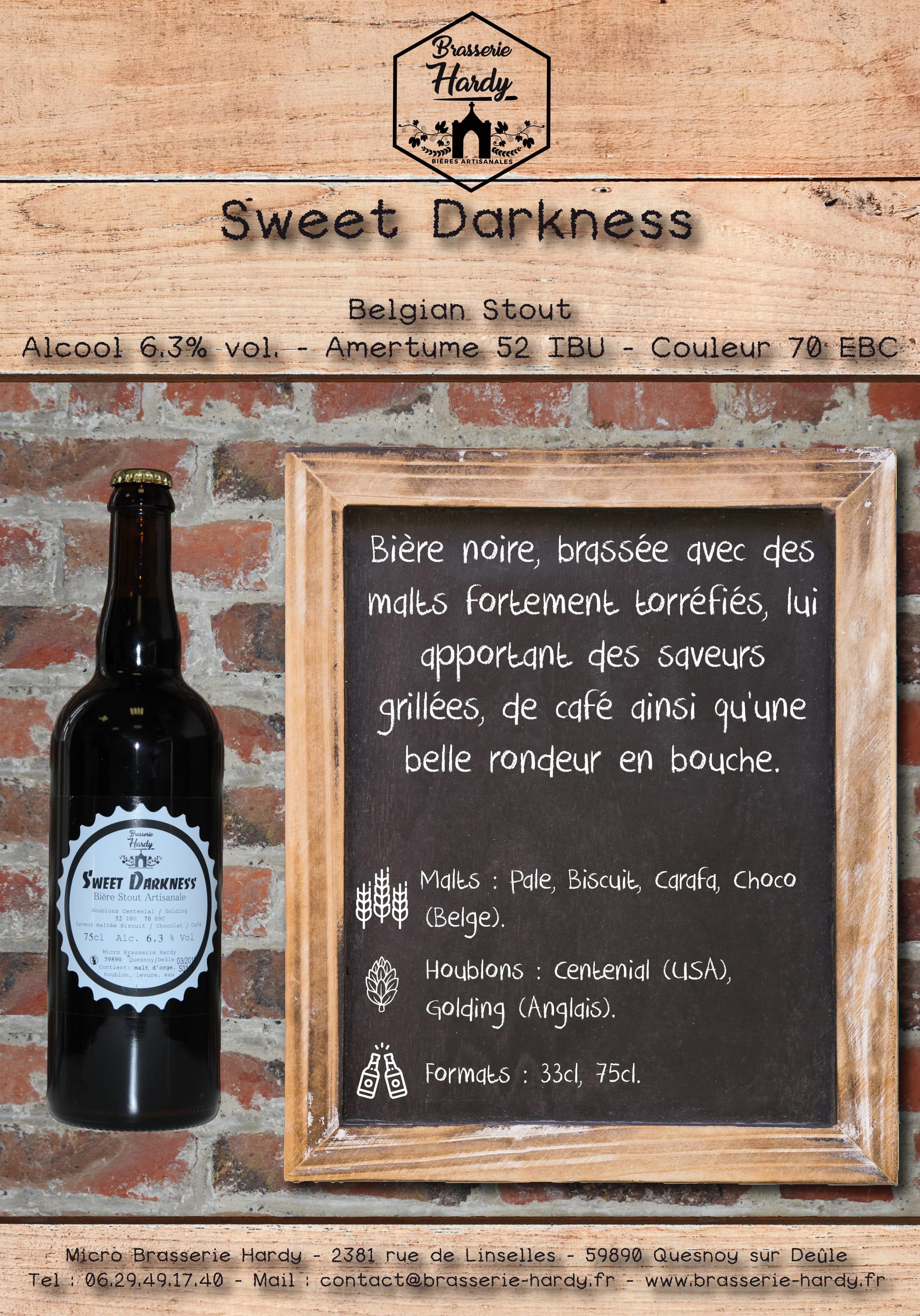sweet darkness stout brasserie hardy